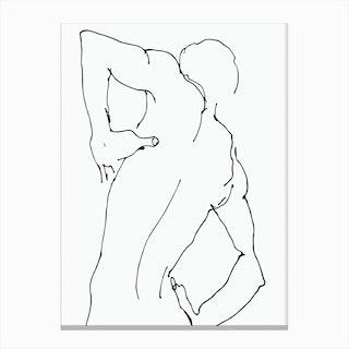 Figure Sketch 3 Canvas Print