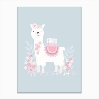 Little Llama Canvas Print
