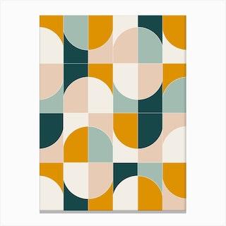 Bold Geo Tiles 01 Canvas Print