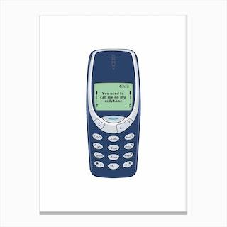 Text Cellphone Canvas Print