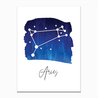 Aries Zodiac Canvas Print