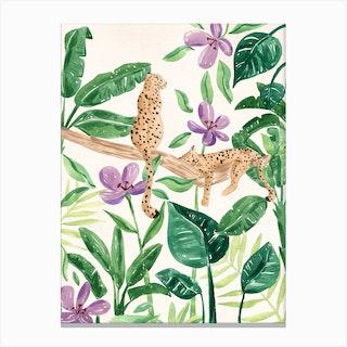 Jungle Leopards Canvas Print