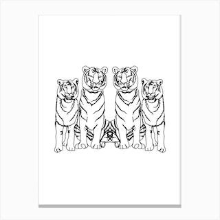 Single Tiger Squad Canvas Print