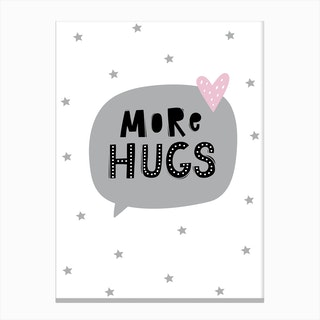 Scandi More Hugs Speech Bubble Canvas Print