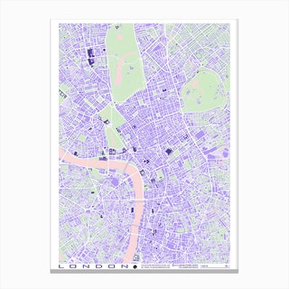 London Violet Canvas Print