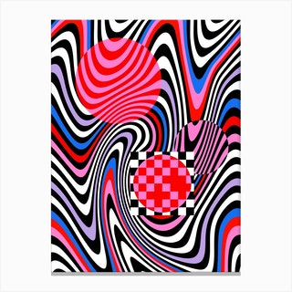 Optical Waves Canvas Print