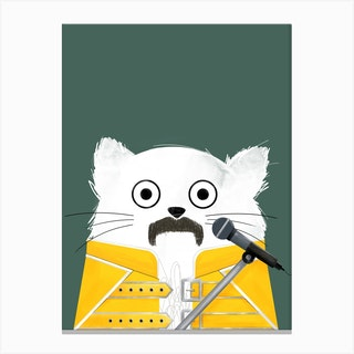 Cat Freddie Canvas Print