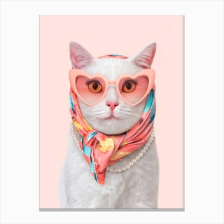 Fashion Cat Canvas Print