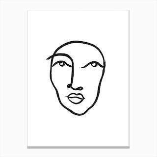 Faces 6 Canvas Print