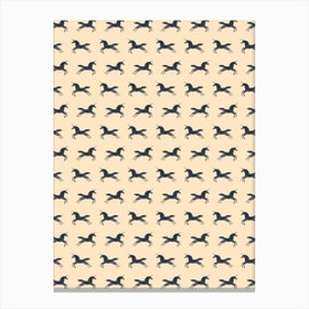 Unicorns Are Real In Pattern Canvas Print