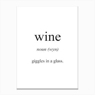Wine Meaning Canvas Print