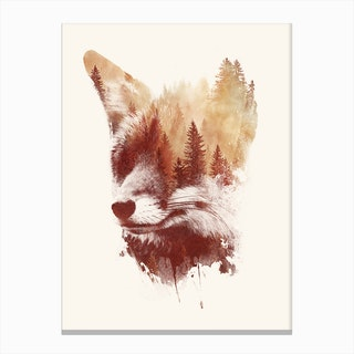 Blind Fox Canvas Print