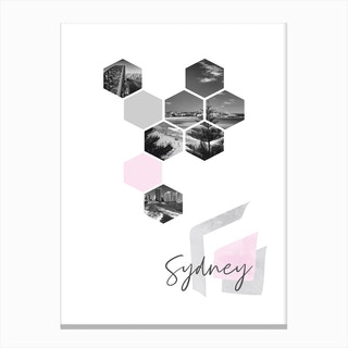 Urban Design Sydney Pink Canvas Print