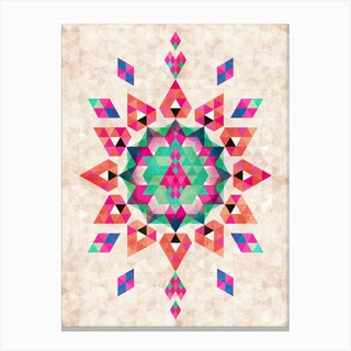 Bohemian Kilim Star Canvas Print
