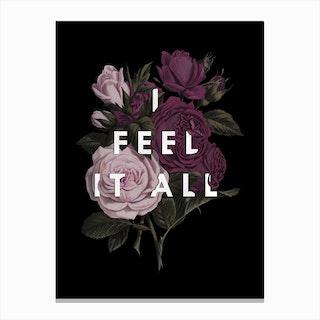 Feel It All Canvas Print