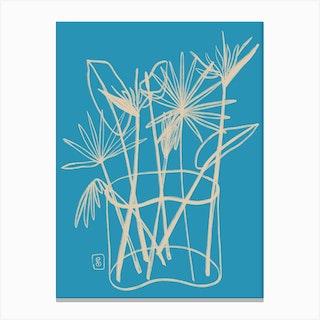 Tropical Flowers Bouquet Canvas Print