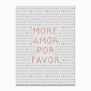 More Amor Rose Gold Canvas Print