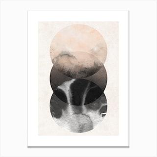 Abstract Nude Three Circles Canvas Print