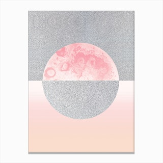 Glitter Moon Canvas Print