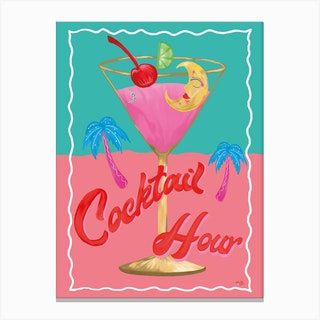 Cocktail Collection Cocktail Hour Canvas Print