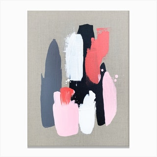 Pink Black And Grey 3 Canvas Print