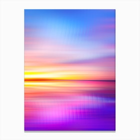 Abstract Sunset VII Canvas Print