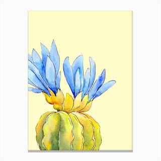 Pastel Cactus Ii Canvas Print