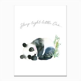Sleep Tight Little One Panda Canvas Print