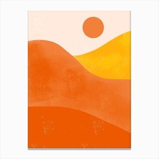 Boho Desert Sunset Canvas Print