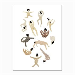 Naked Yoga Ladies Canvas Print