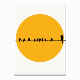 Sleeping Birds Canvas Print