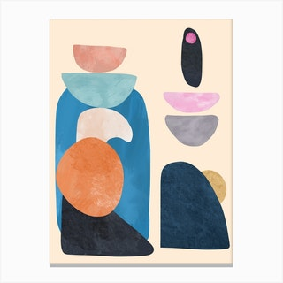 Pastel Modern Canvas Print