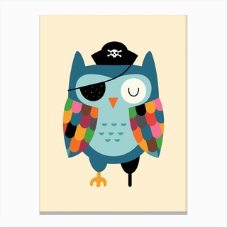 Captain Whooo Canvas Print