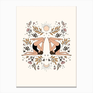 The Symmetry Pose Canvas Print