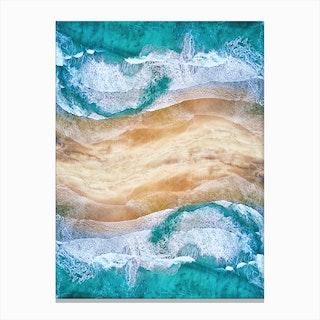 Tropical V - Beach Waves I Canvas Print