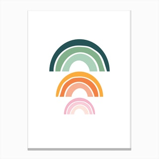 Triple Rainbow 2 Canvas Print