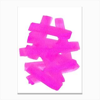 Superwatercolor Pink Canvas Print