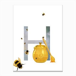 H Honey Canvas Print