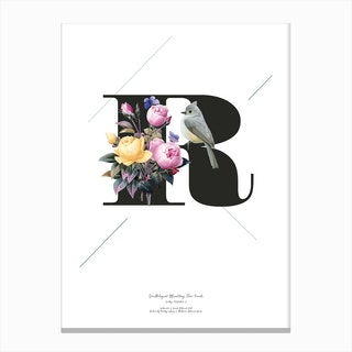 Botanical  Alphabet R Canvas Print