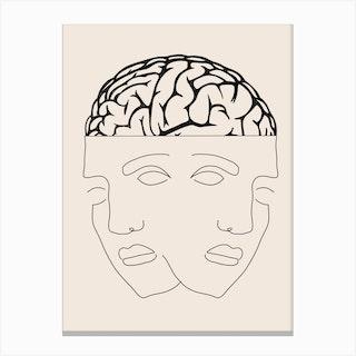 Dual Consciousness Canvas Print