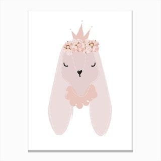 Princess Bunny Canvas Print