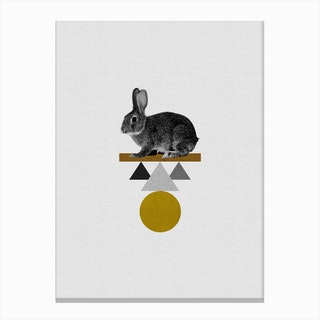 Tribal Rabbit Canvas Print