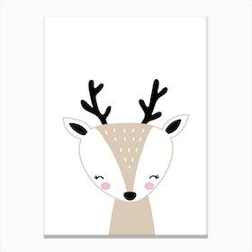 Scandi Reindeer Canvas Print