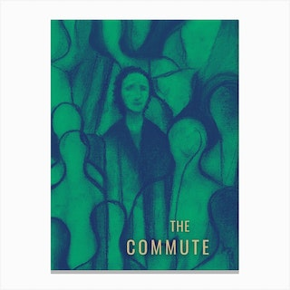 The Commute Lost In The Crowd Canvas Print
