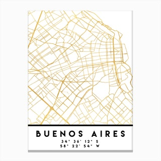 Buenos Aires City Street Map Canvas Print