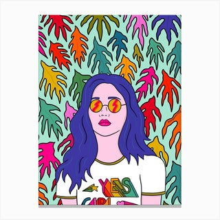 Yes Girl Canvas Print