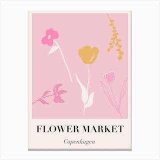 Flower Market Copenhagen Canvas Print