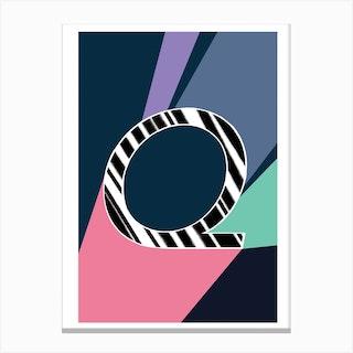 Q Geometric Font Canvas Print