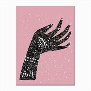 Lucky Hand Glitter Canvas Print