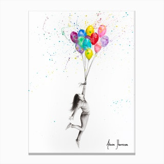 Her Big Dreams Canvas Print
